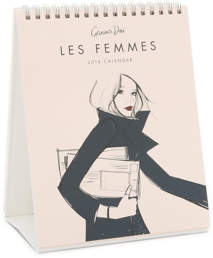 Watch the months tick by in style with this chic  desk calendar ($16) featuring 12 stunning fashion illustrations by French blogger, photographer, and artist Garance Doré.  — Maggie Winterfeldt, editor