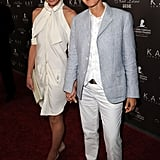 The funkiest LWD of all worn by Portia de Rossi — a shirtdress turned on its head.