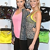 Adriana Lima and Erin Heatherton attended the VSX launch for Victoria's Secret in NYC.