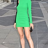 Petra Nemcova Got the Memo, Flashing a Bright Lip and a Kelly-Green Design