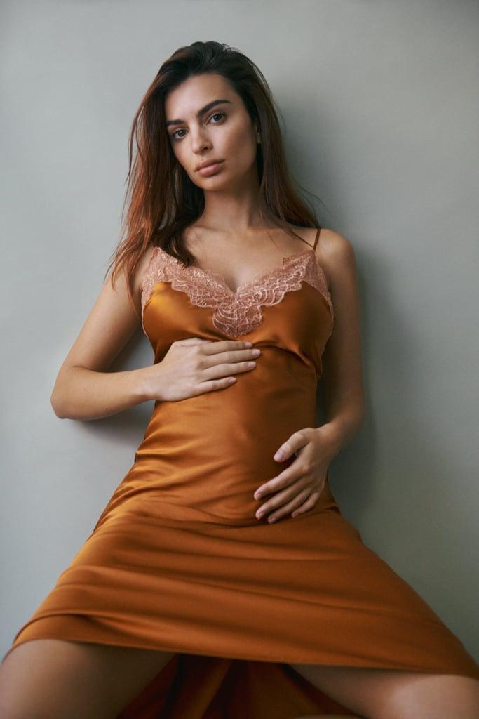 Emily Ratajkowski Wears Jonathan Simkhai Slip Dress