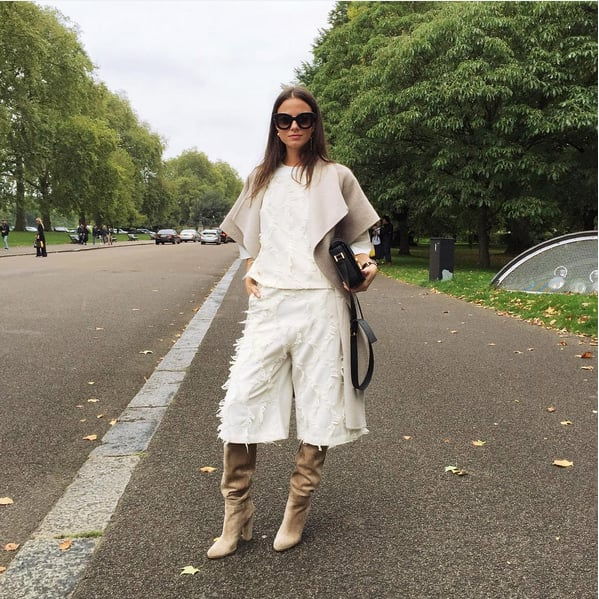 Style Your Wide-Leg Bottoms With Tall Boots