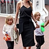 Angelina Jolie went to check out the Sydney Aquarium with all the kids.
