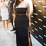 Kim Showed a Hint of Her Tom Ford Heels