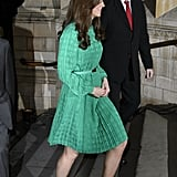 Kate Middleton wore black pumps for the London event at the Natural History Museum.