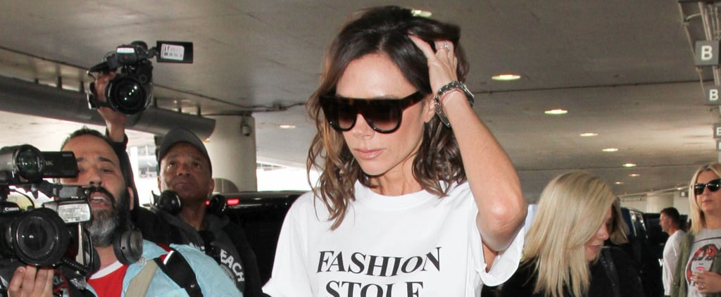 "Victoria Beckham's ""Fashion Stole My Smile"" T-Shirt"