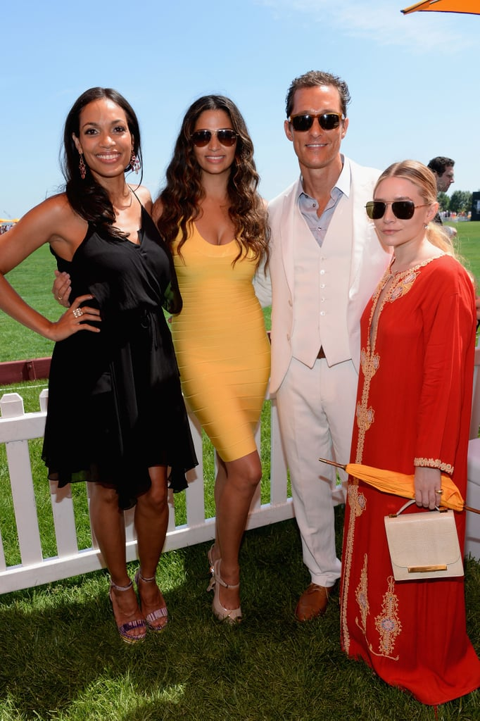 Camila Alves and husband Matthew McConaughey picked summery shades for an afternoon at the Veuve Clicquot Polo Classic, while Ashley Olsen opted for a floor-length caftan (more on that later!). Meanwhile, Rosario Dawson did a trusty LBD, proving that the style is perfect for any situation.