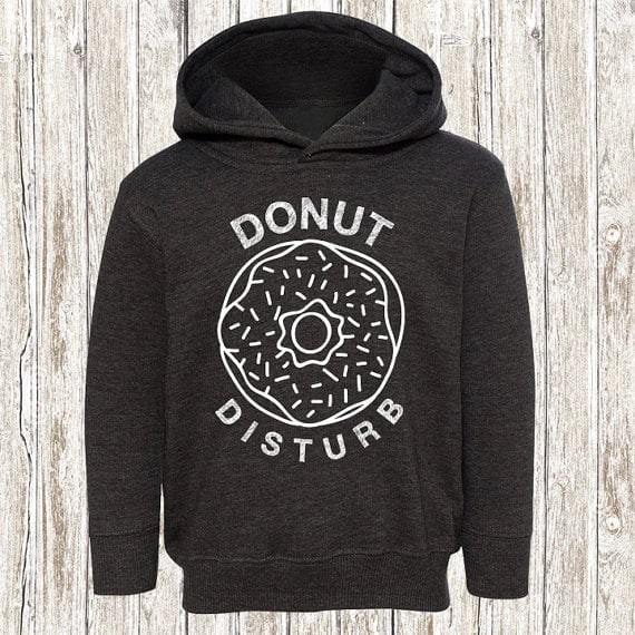 Donut Disturb Smokey Black Pullover Hoodie ($25)