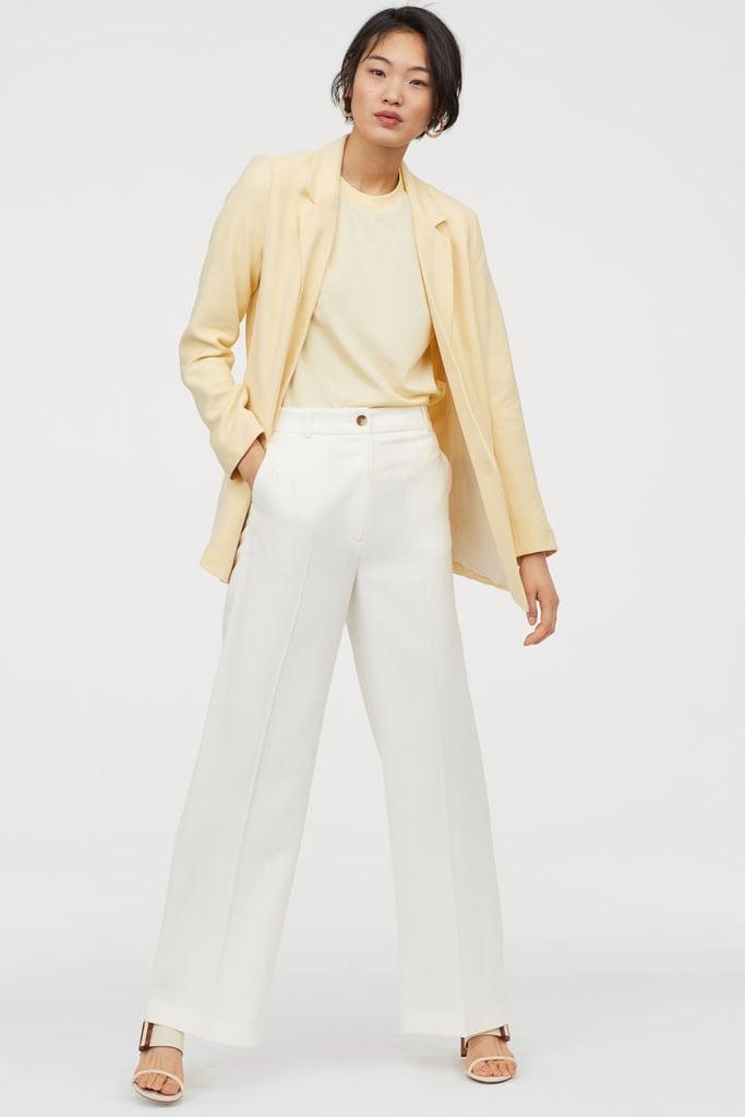 H&M Wide Suit Trousers