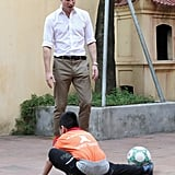 Prince William Playing Soccer With Kids in Vietnam 2016