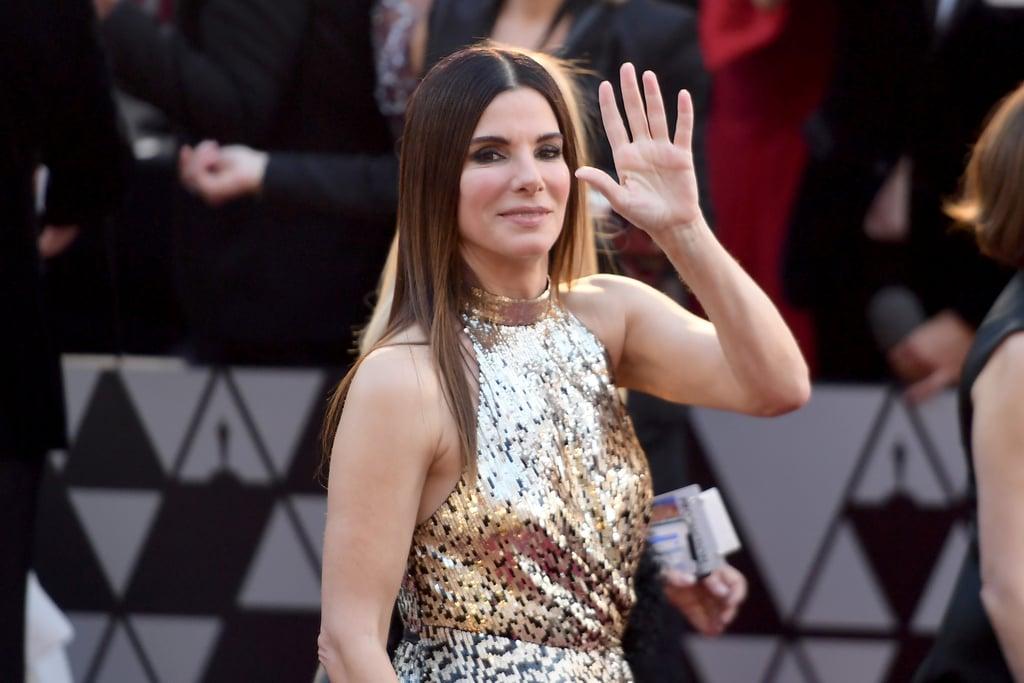 Sandra Bullock Louis Vuitton Dress at the Oscars 2018