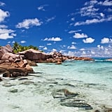 Tan on the picturesque beaches of Seychelles in East Africa.
