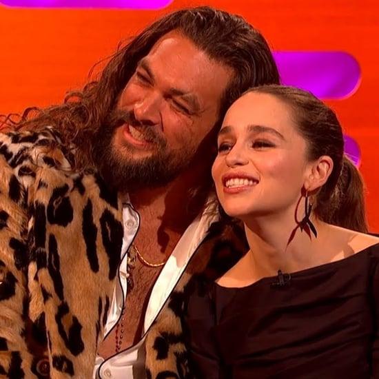 Jason Momoa Always Visits Emilia Clarke in London Video