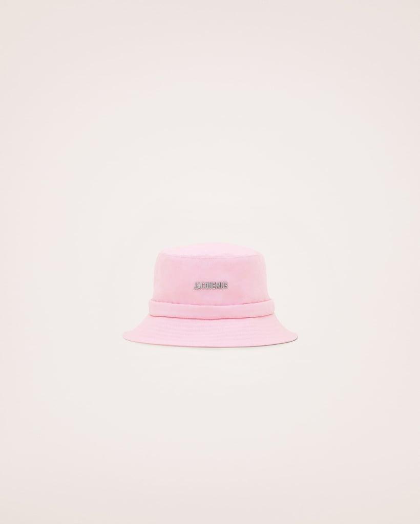 Jacquemus Le Bob Gadjo Canvas Bucket Hat in Light Pink