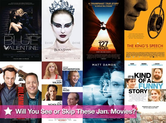 Movies Films Released at UK Cinemas in January 2011 Including Blue Valentine, 127 Hours, The King's Speech, Black Swan