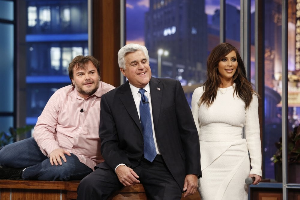 Jay Leno sat between Kim Kardashian and Jack Black.