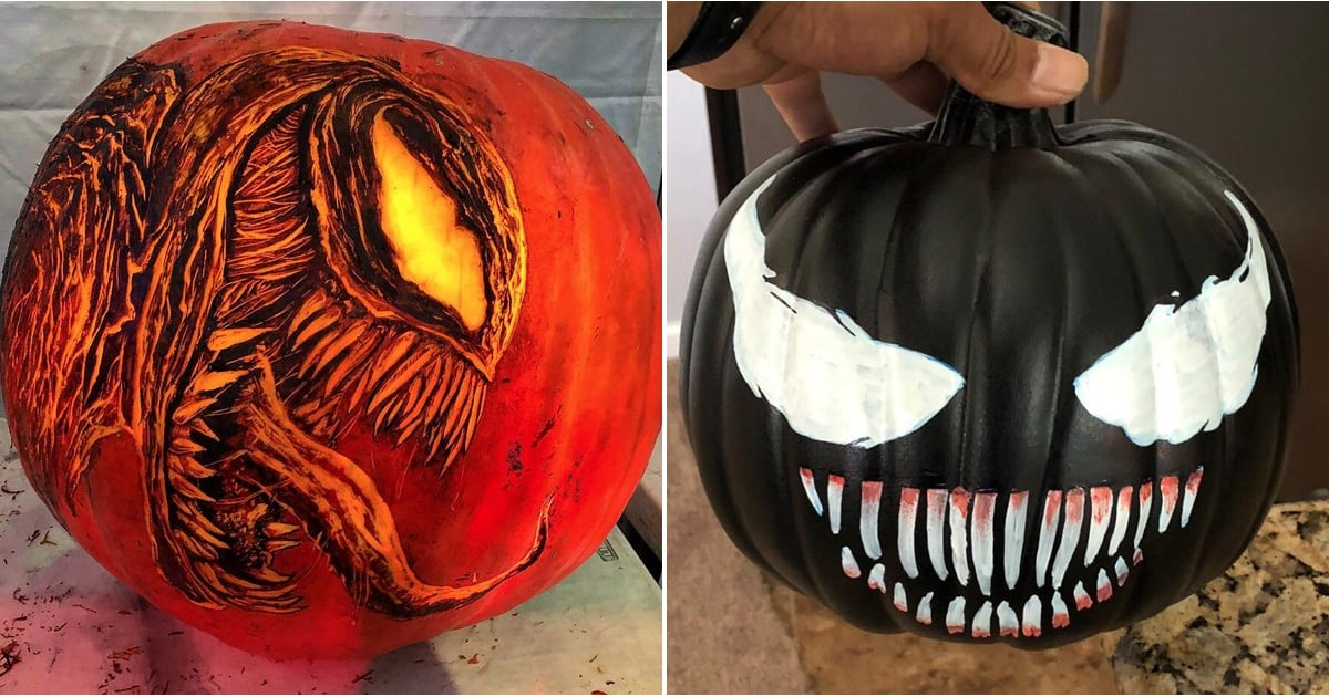 Venom Pumpkin Carvings Popsugar Entertainment