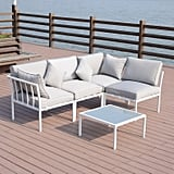 Outsunny 4-Piece Outdoor Furniture Patio Conversation Seating Set