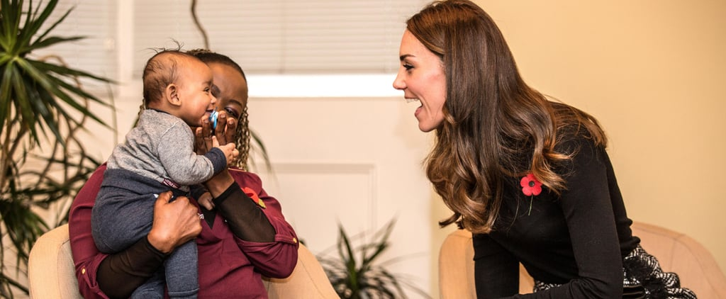Kate Middleton Bonds With a Precious 4-Month-Old While Visiting a Women's Centre