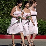 Sarah Michelle Gellar wore pink as a bridesmaid in her pal's August 2006 wedding in Santa Monica.