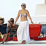 Jennifer Lopez lets loose in a bikini.