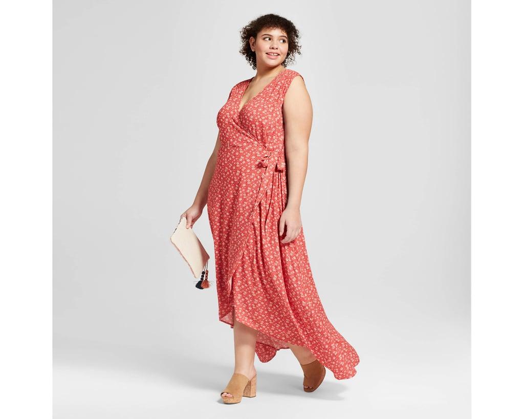 Women\'s Plus Size Wrap Front Floral Midi Dress | Target Universal ...