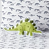 Green Dino Throw Pillow