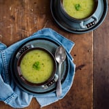 Atkins Recipes: Low Carb Creamy Garlic Zucchini and Pea Soup