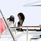 Rihanna took in the sights off the coast of France.