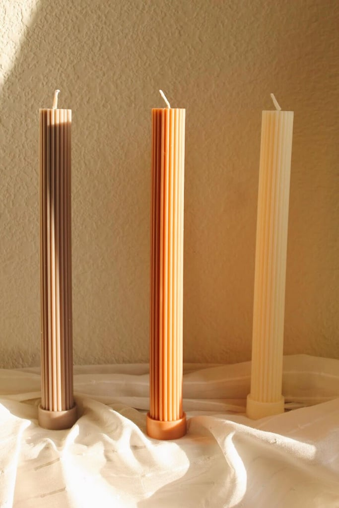Fluted Pillar Candle Trio