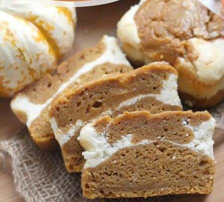 Skinny Pumpkin Cream Cheese Bread