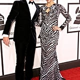 Robin Thicke and Paula Patton at the 2014 Grammy Awards.