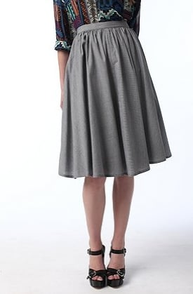 Longer hemlines are hot for Fall, and this Sparkle & Fade Full Voile Skirt ($58) is right on trend. I'll definitely sassy it up with a more sexy top.
