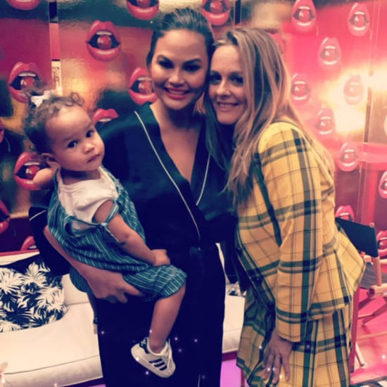 Alicia Silverstone and Chrissy Teigen Lip Sync Battle Photo