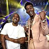 Pictured: Kanye West and Desiigner