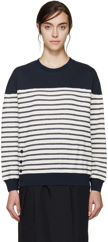 3.1 Phillip Lim Navy & Cream Striped Sweatshirt  ($184, originally $275)