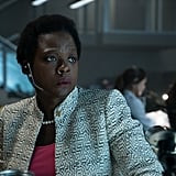 Amanda Waller's face looks as confused as her jacket.