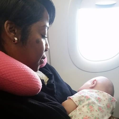 Stranger Calms Baby on an Airplane