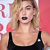 Hailey Baldwin's Bold Black Lipstick