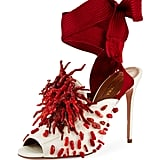 Aquazzura's Madagascar Embellished Ankle Wrap Pumps ($1,295) are a quick trip under the sea.