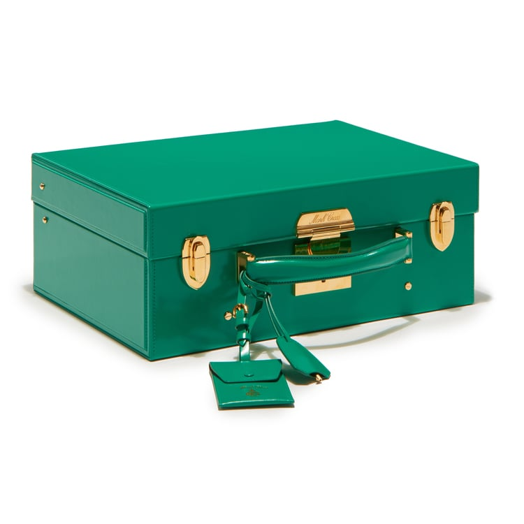 """""""Mark Cross's newest offering of trunks don't just come up big on function, but in fashion. I mean, how great is the shade of this grass green case ($7,500)? It will fit all my belongings for a quick weekend getaway, and it's easily stowed in any compartment."""" — SW"""