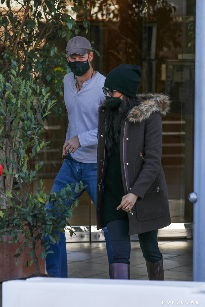Meghan Markle and Prince Harry were spotted out and about in Beverly Hills on Sunday afternoon. The Duke and Duchess of Sussex kept a low profile as they bundled up for the chilly weather; Meghan donned a brown fur-trimmed J.Crew coat, while Harry sported a gray long-sleeved shirt and jeans. It's unclear what Harry and Meghan were up to, but if we had to guess, it probably involved closing a deal of some sort. Ever since they officially stepped down as senior royals and made the move to Santa Barbara, CA, Meghan and Harry have been booked and busy! In addition to launching their new Archewell Foundation, the couple recently signed a major multiyear deal with Netflix, where they will produce a variety of projects including documentaries, docuseries, feature films, scripted shows, and children's programming. On top of that, Harry and Meghan have also partnered up with Spotify for a multiyear partnership with Archewall Audio, which is their newly formed audio production company, and Meghan just became a private investor for woman-led wellness company Clevr Blends.  We can't wait to see what the Sussexes have in store for us in 2021! In the meantime, see photos from their latest outing ahead.       Related:                                                                                                           I Followed Meghan Markle's Daily Routine For a Week, and It Helped Me Regain My Sparkle