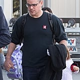 Matt Damon was out in LA.