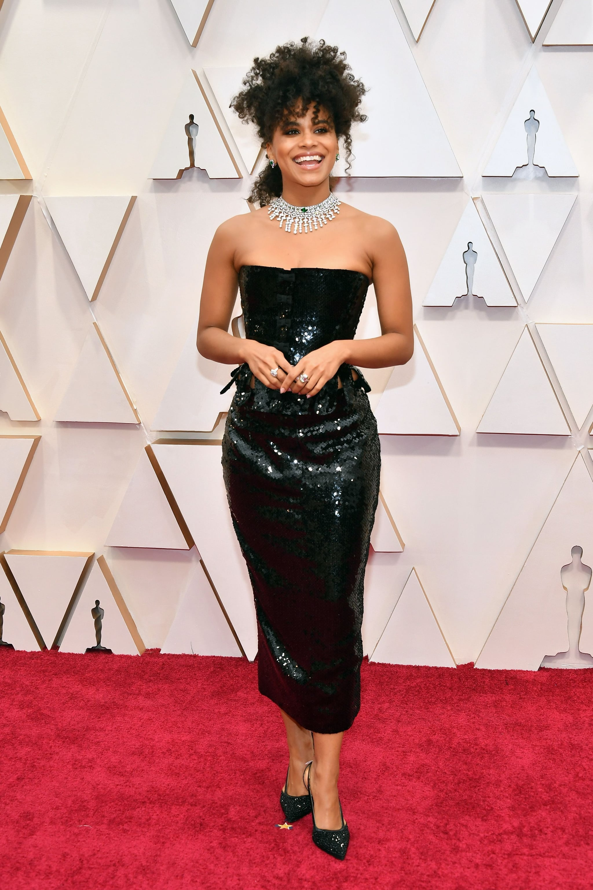 Image result for zazie beetz at Oscars 2020