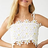 Forever 21 Daisy Lace Crop Cami