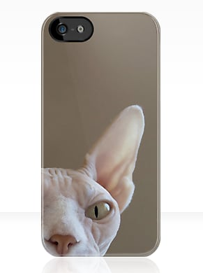 Scare off anyone trying to steal your phone with this cat case ($39) that may or may not be watching you.