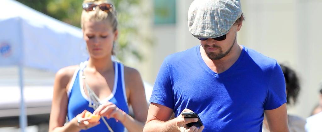 Leonardo DiCaprio and Toni Garrn Shop at Farmers Market