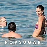 Olivia Wilde and Jason Sudeikis in Hawaii