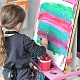 PS: What is your philosophy on displaying homemade art? MS: I think it's really important to display kids' art and other creations. It shows them that their work is valued and helps build confidence. I also think it's essential to allow kids to display their work on their own, giving them ownership over what and how it is displayed. In our studio, we don't have a lot of room for my kids to display their art on their own, so we have a small area on a wall in the kitchen where they know that they can tape up their latest creation. If you cringe at the idea of kids' art haphazardly displayed all over your house, then pick one spot and give your kids some freedom within that area. In addition to rotating art, I love picking a few special pieces and framing them or hanging them prominently in the house.
