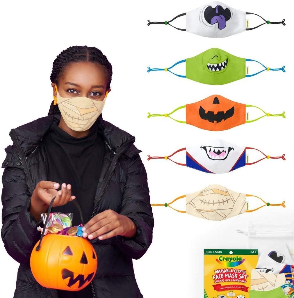 Crayola Halloween Reusable Cloth Teen Face Mask Set